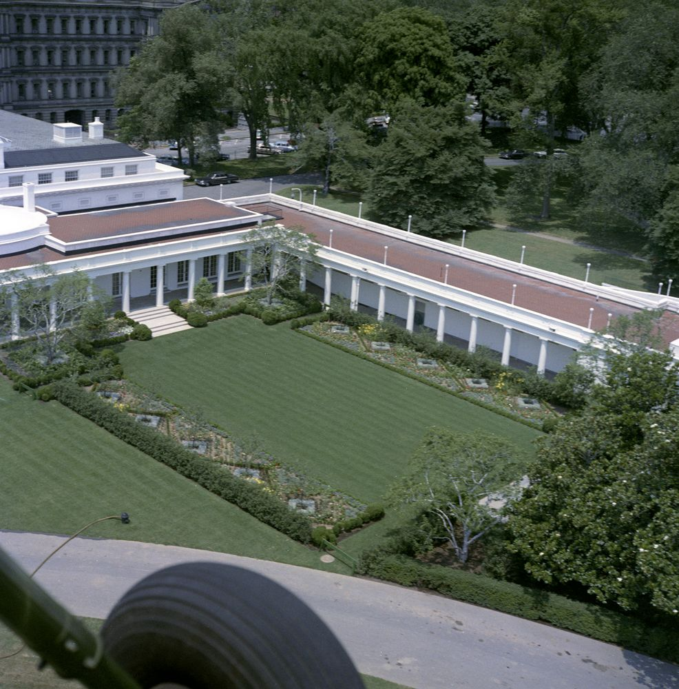 KN-C22693. Aerial View of the White House - John F. Kennedy ...
