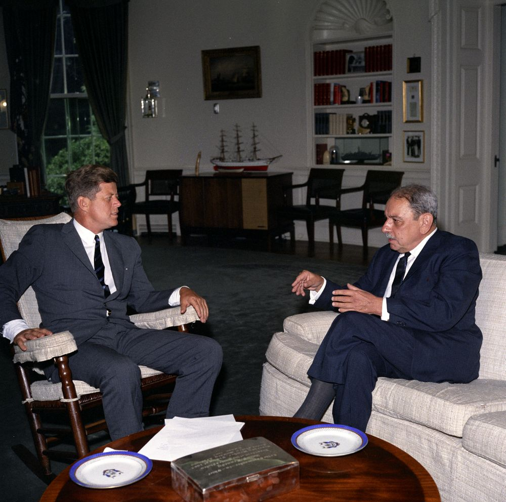 Kn C22805 President John F Kennedy With Governor Of