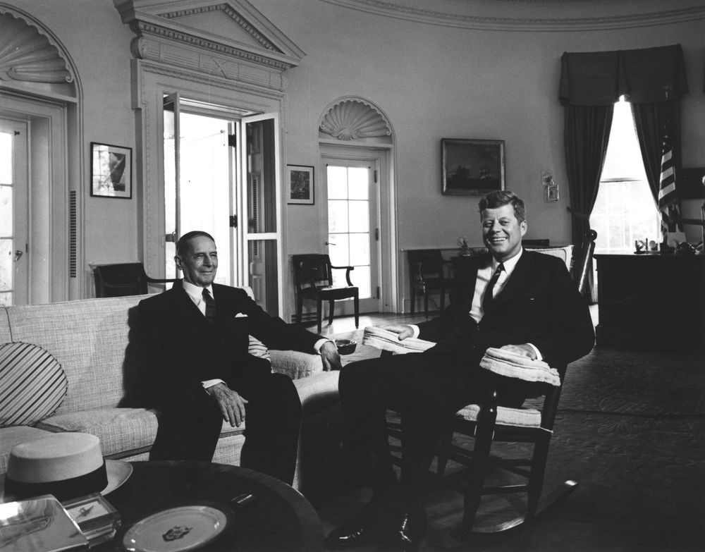 Ar7418 D President John F Kennedy With General Douglas