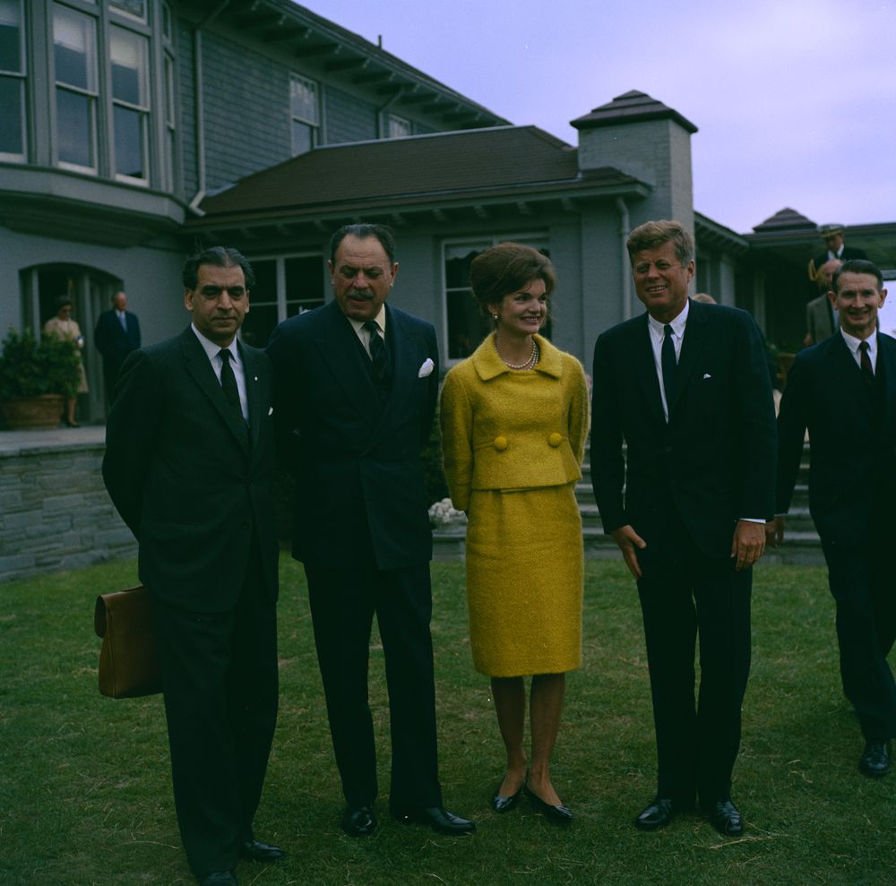 Kennedy and First Lady Jacqueline Kennedy with President of Pakistan ...
