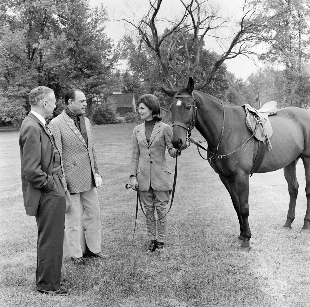 ... Kennedy with President of Pakistan, Muhammad Ayub Khan, at Glen Ora