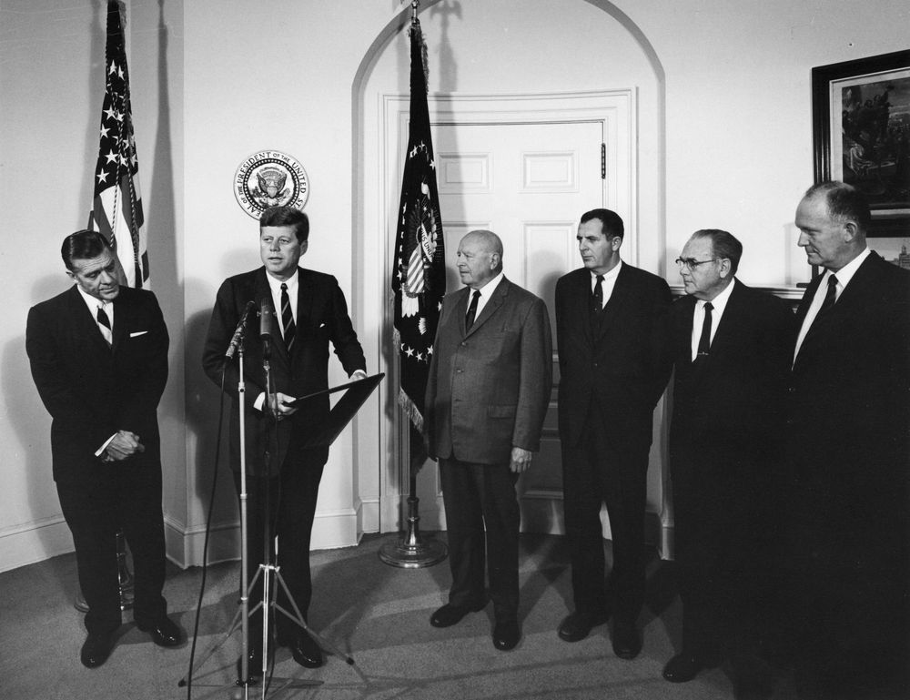 President Kennedy attends a presentation of an Outstanding Record ...