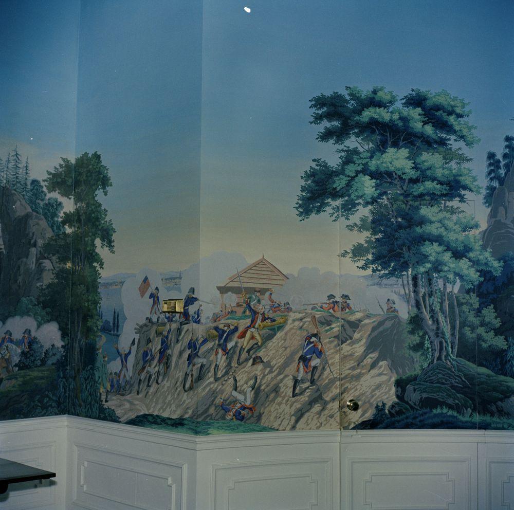 White House Rooms: President's Dining Room, wallpaper