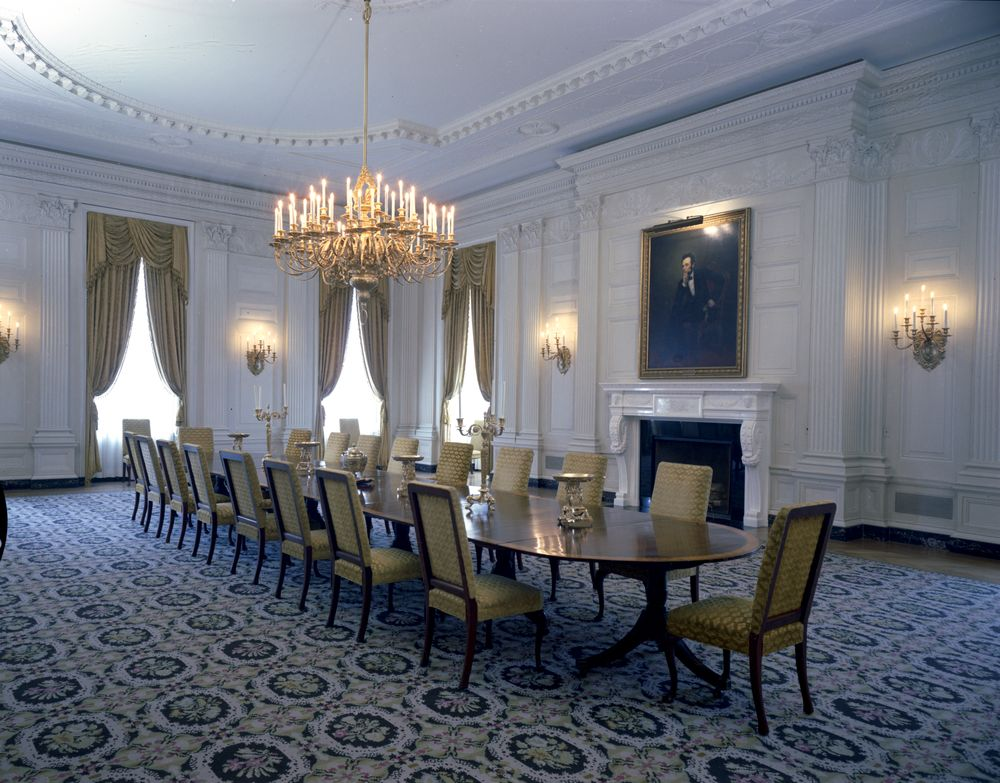 KN C24467 State Dining Room White House John F