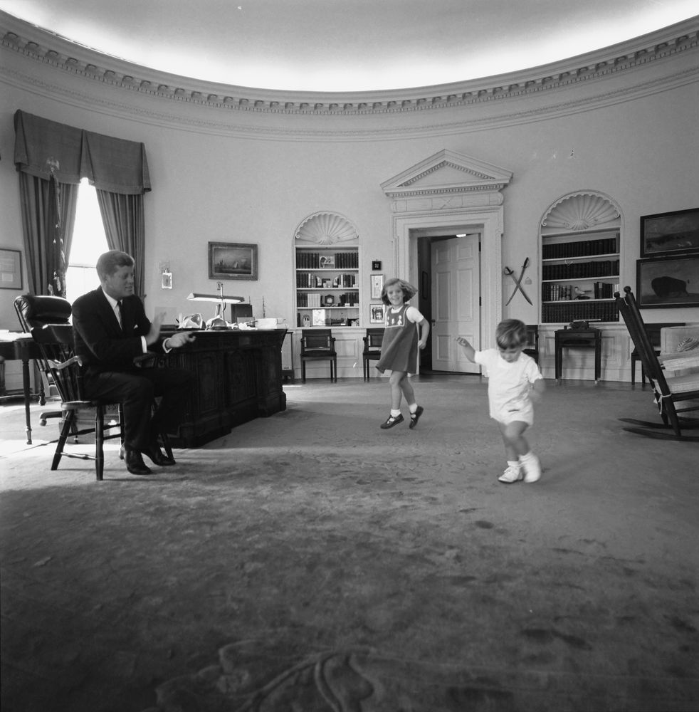 jfk in oval office. President John F. Kennedy Watches Children Dance In Oval Office Jfk A