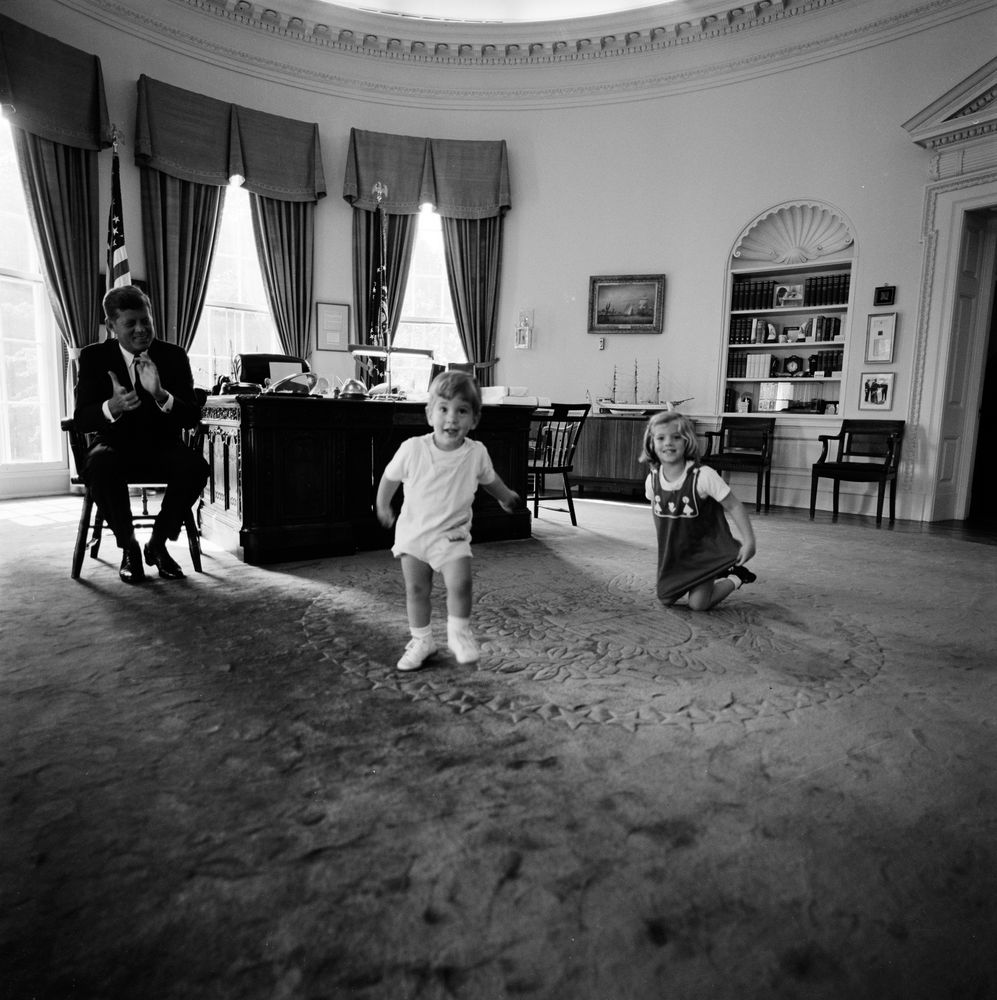 jfk in oval office. President John F. Kennedy Watches Children Dance In Oval Office Jfk
