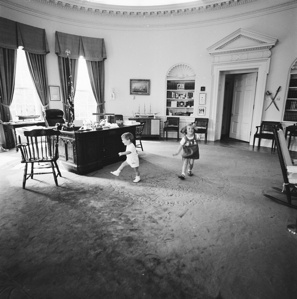 jfk in oval office. Caroline Kennedy And John F. Kennedy, Jr., Dance In Oval Office Jfk