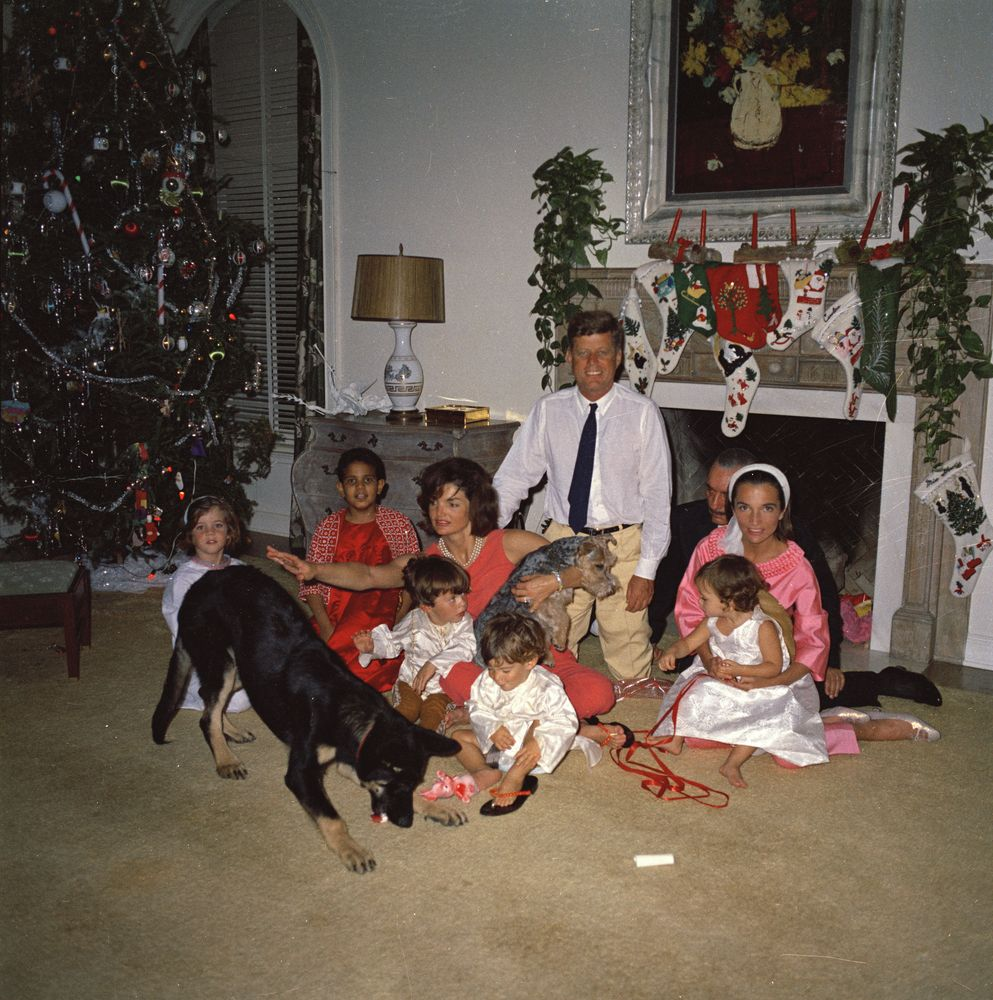 ST-C72-34-62. Kennedy and Radziwill Families Celebrate Christmas ...