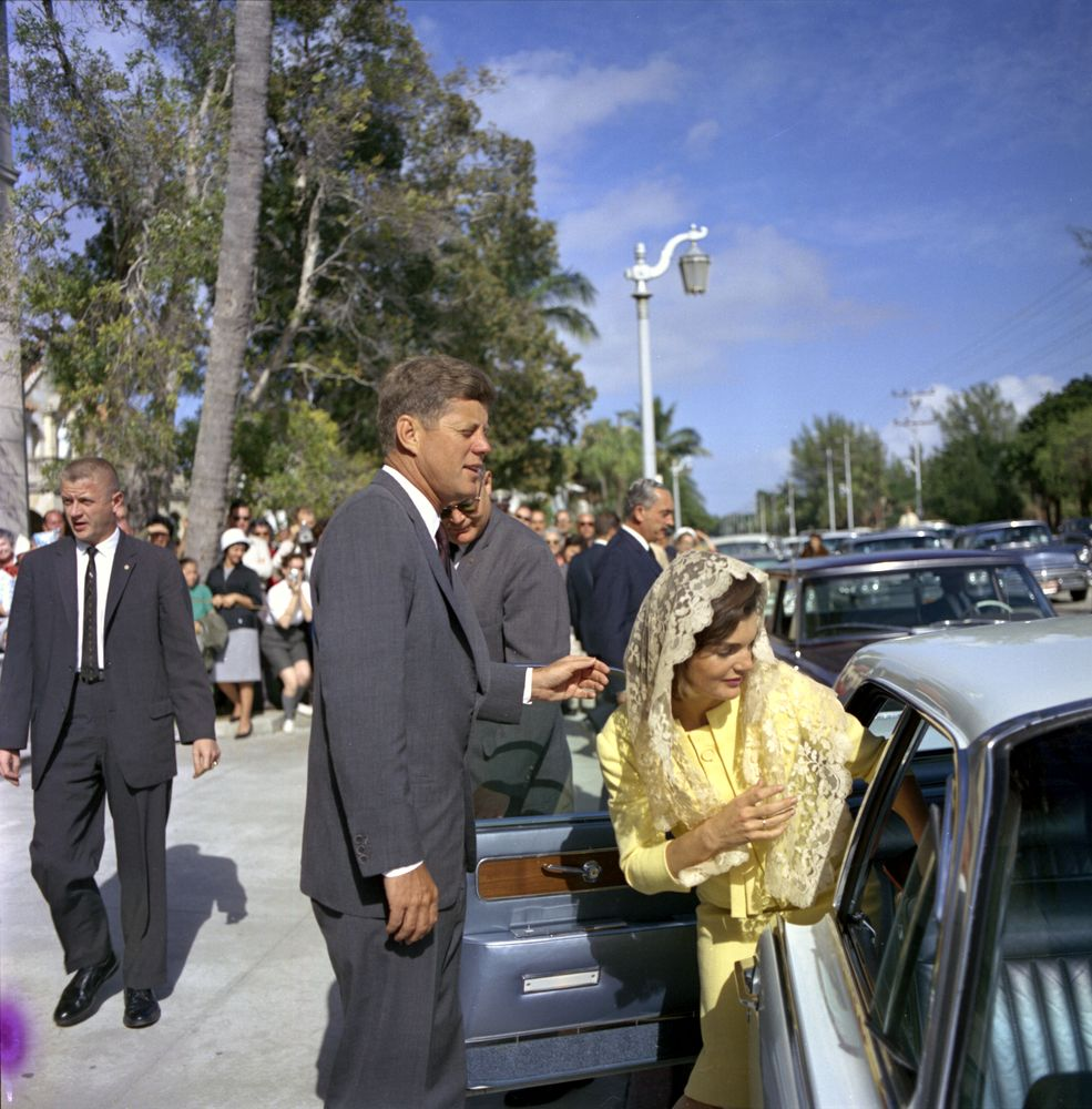 ST-C1-11-63. President John F. Kennedy and First Lady Jacqueline ...