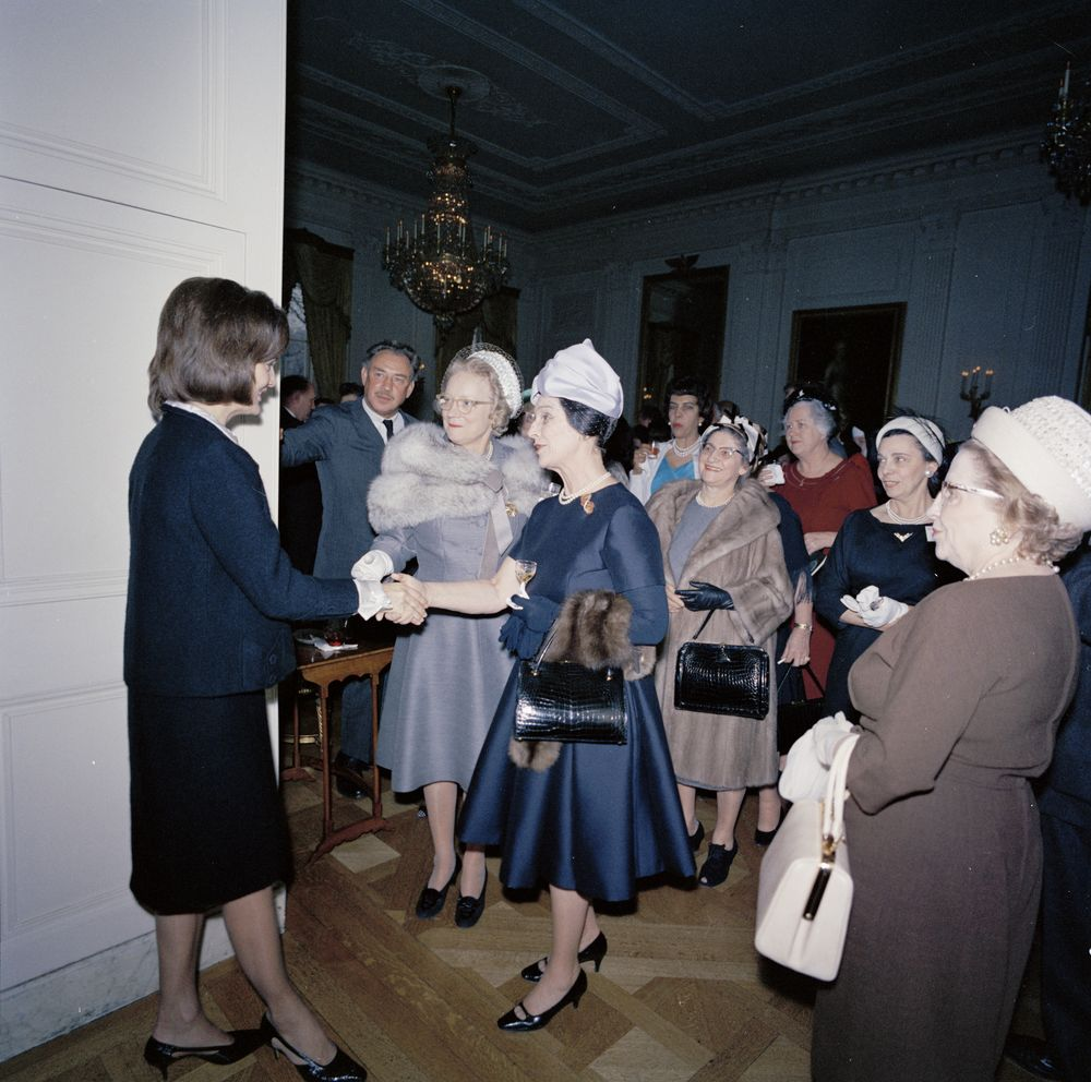 First Lady Jacqueline Kennedy S Jbk Reception For The