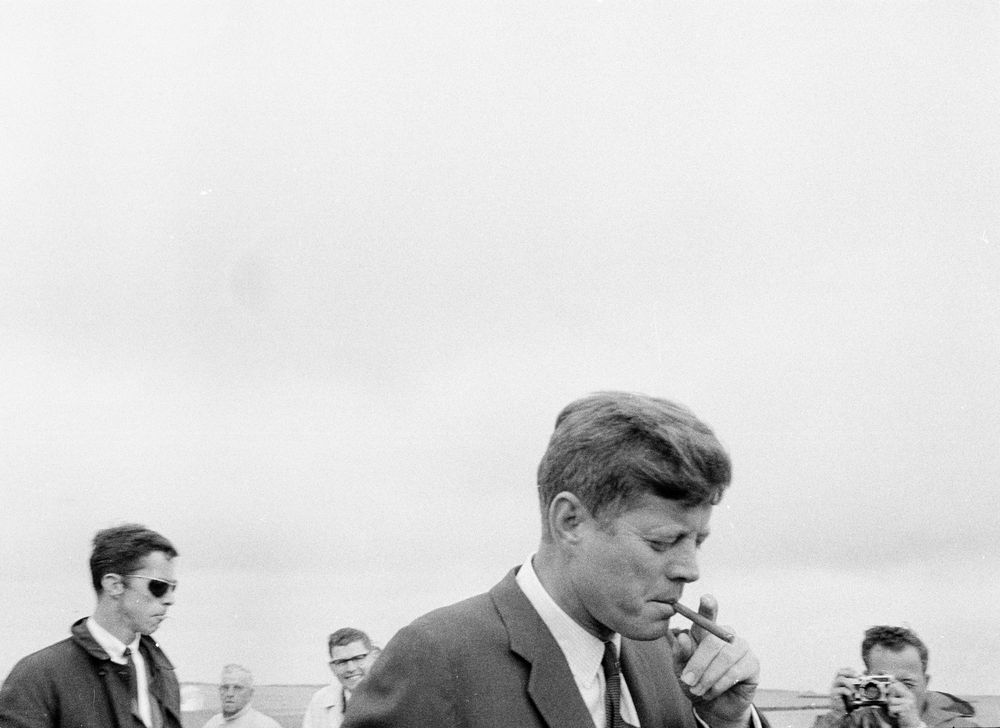 Weekend In Hyannis Port President Kennedy With Cigar Jfk Library