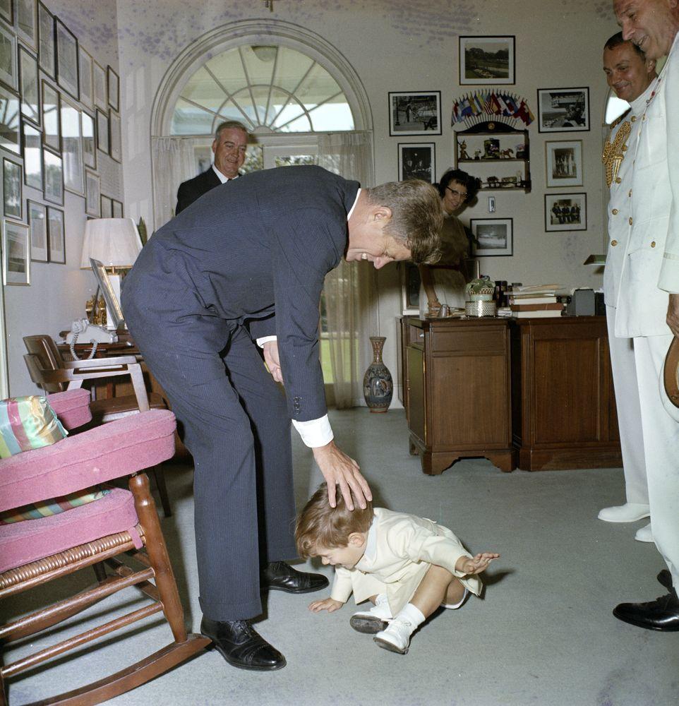 John F Kennedy Jr With President Kennedy Evelyn