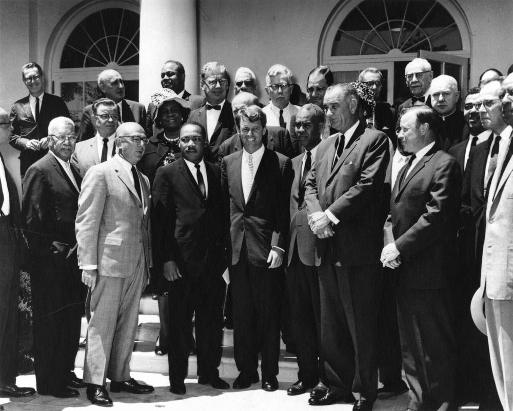 AR7993-B. Martin Luther King, Jr. and Civil Rights Leaders with ...