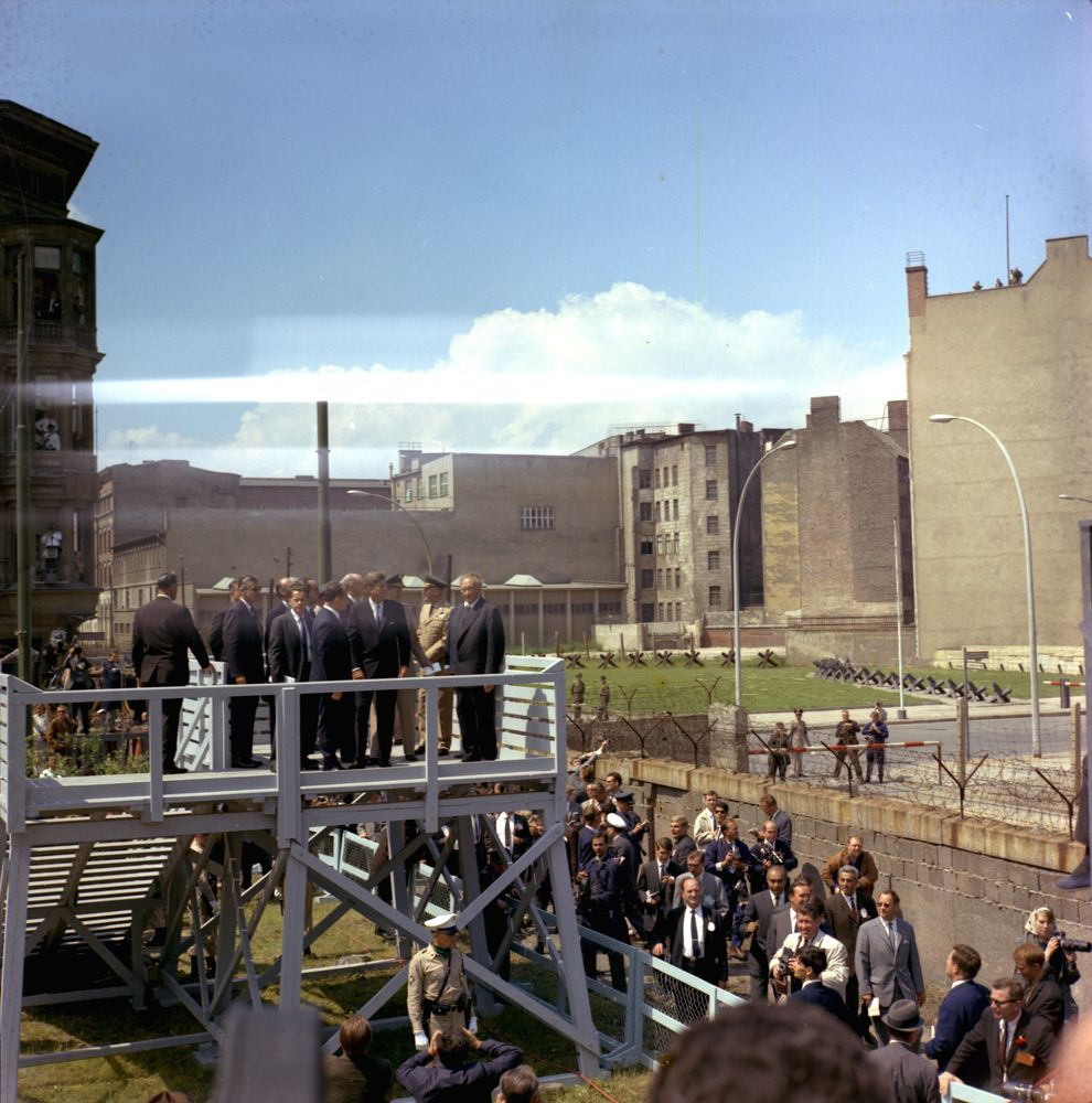 KN-C29210. President John F. Kennedy at Checkpoint Charlie Along ...