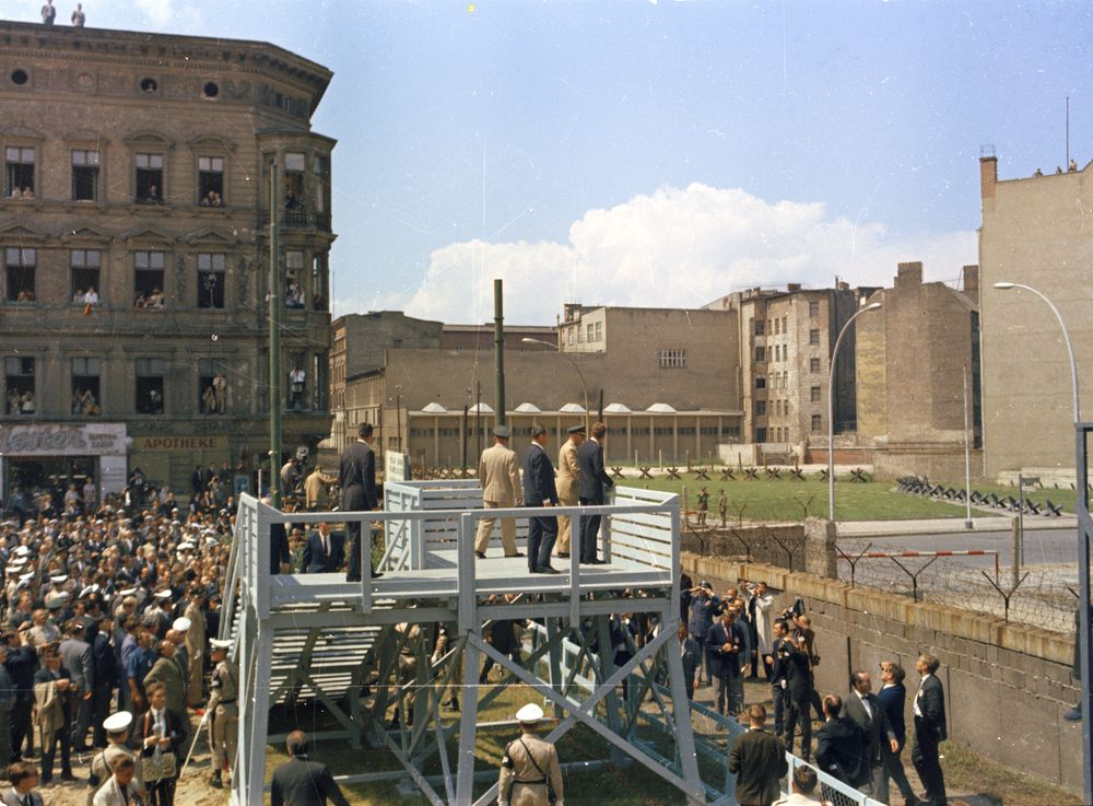 Trip To Europe Germany West Berlin President Kennedy At