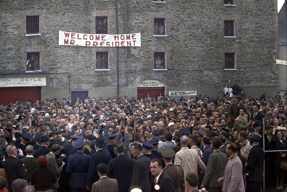 KN-C29329. President John F. Kennedy Visits New Ross, Ireland - John F ...