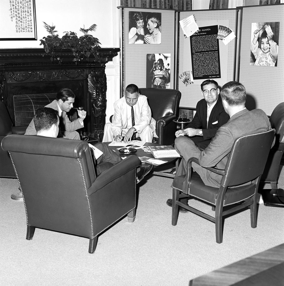 Flipboard Richard Nixon Tried To Invoke Executive: ST-328-2-63. Food For Peace Staff Meeting