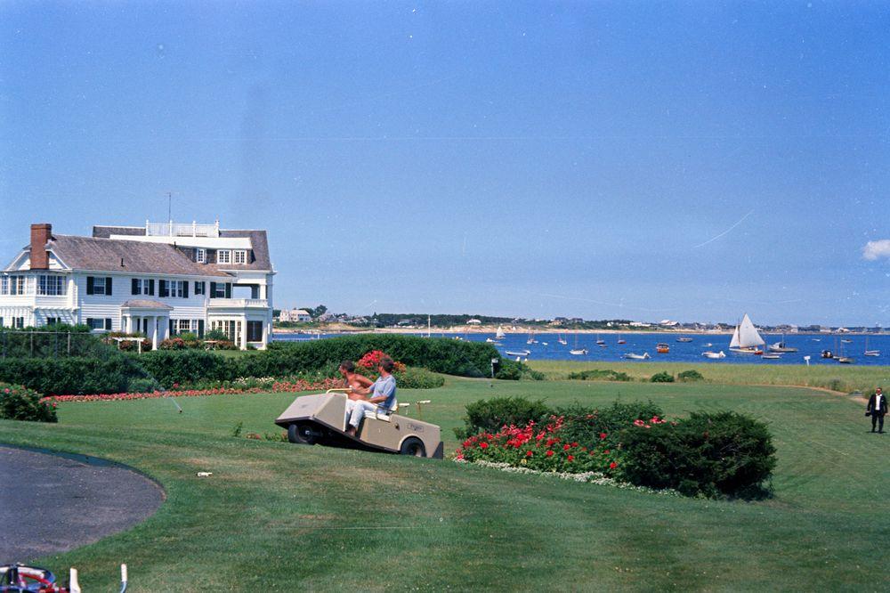 ST-C236-4-63. President John F. Kennedy and Lem Billings in Hyannis ...