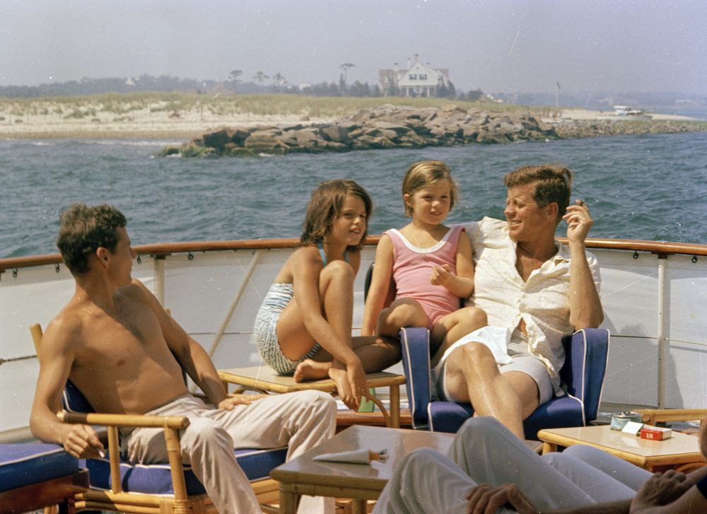 ST-C250-20-63. President John F. Kennedy and Family Aboard Boat in ...