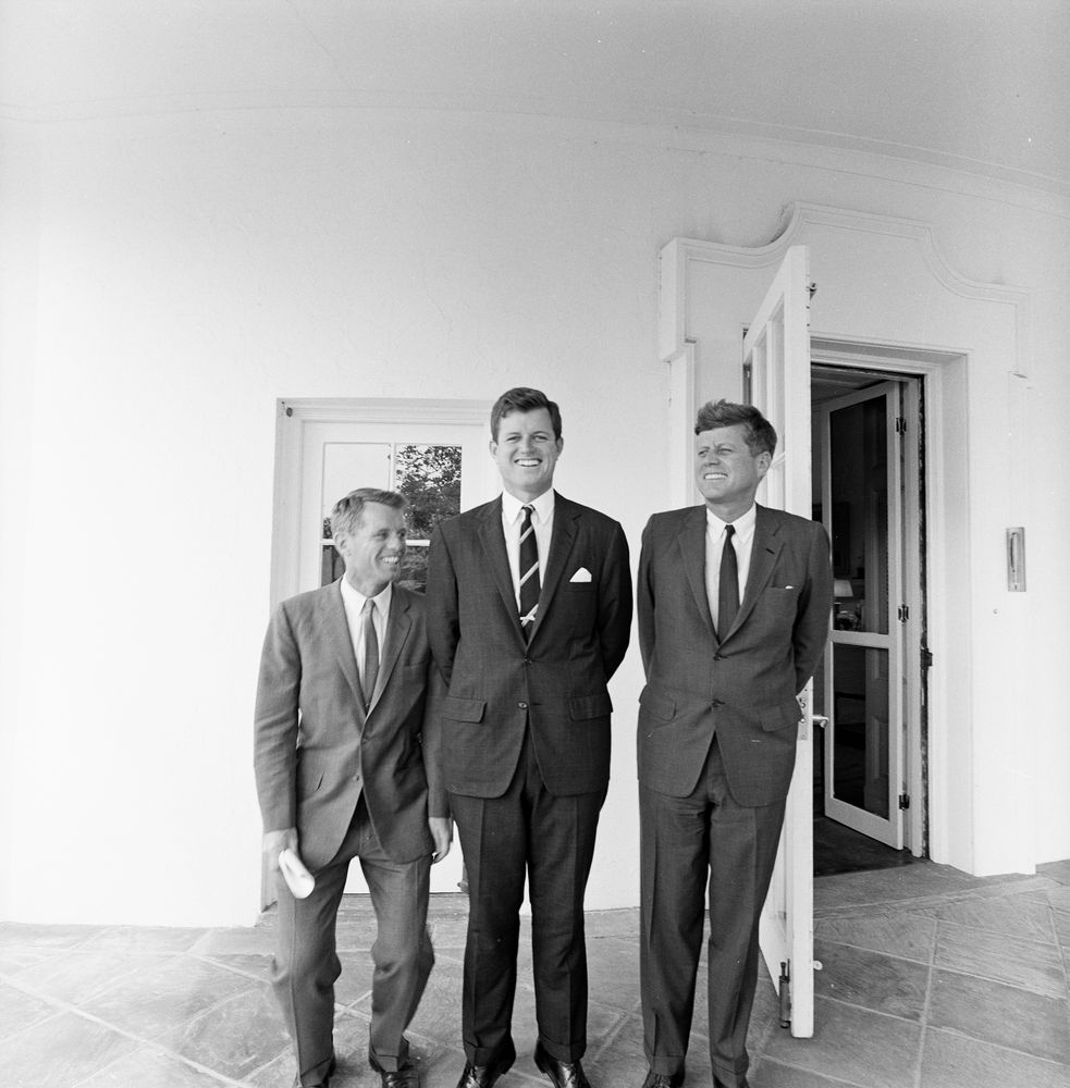 ST-398-1-63. President John F. Kennedy with Brothers, Robert F ...