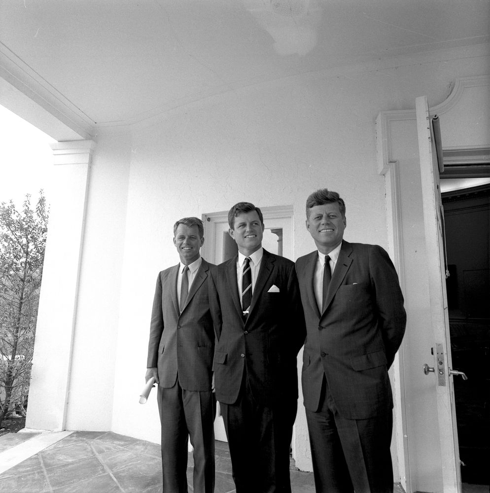 St 398 3 63 President John F Kennedy With Brothers