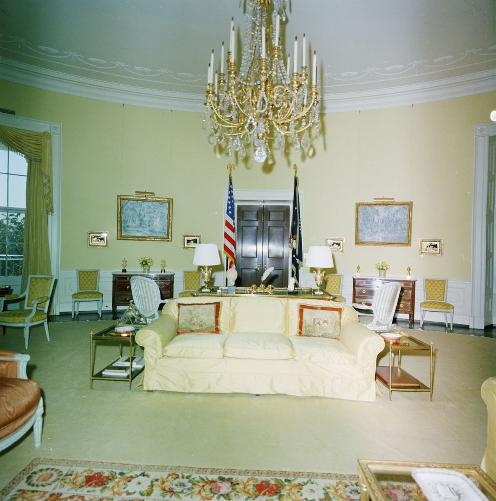 Kn C29719 Yellow Oval Room White House John F Kennedy