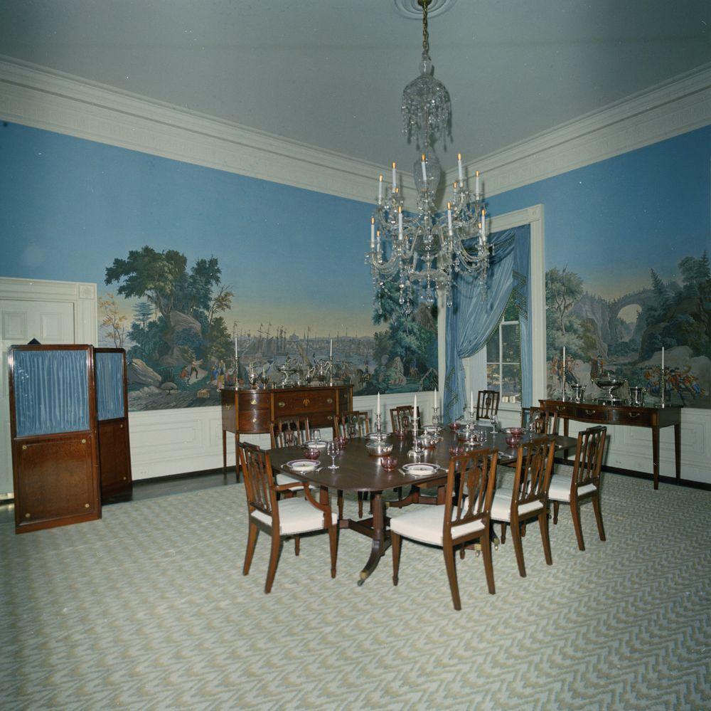 KN-C29765. President\'s Dining Room, White House - John F. Kennedy ...