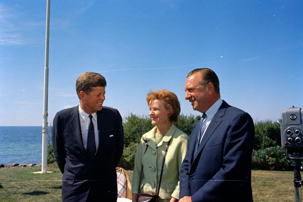 ST-C272-1-63. President John F. Kennedy with Walter Cronkite and His ...