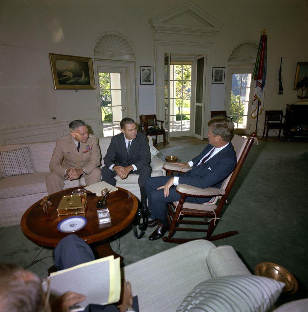 Meeting With The Secretary Of Defense Robert S Mcnamara Joint Chiefs Of Staff Jcs Chairman Gen Maxwell D Taylor 10 00am Jfk Library