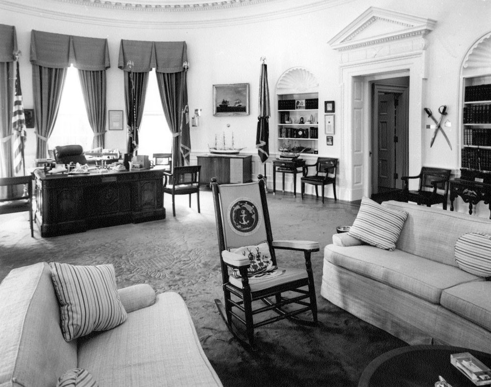 White House Oval Office President Kennedy S Rocking Chair