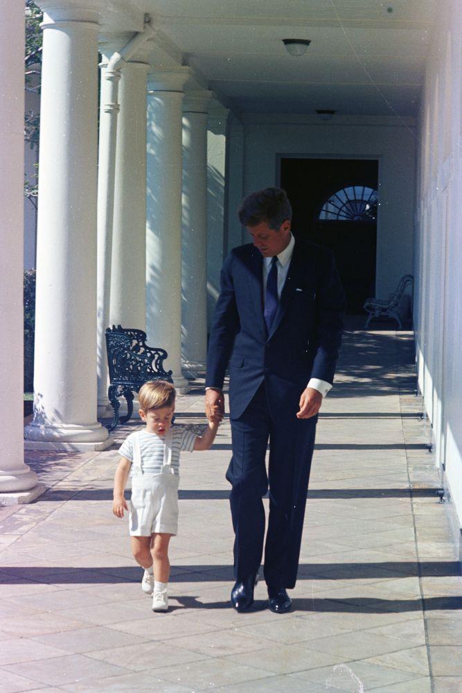 president kennedy with john f  kennedy  jr   jfk  jr