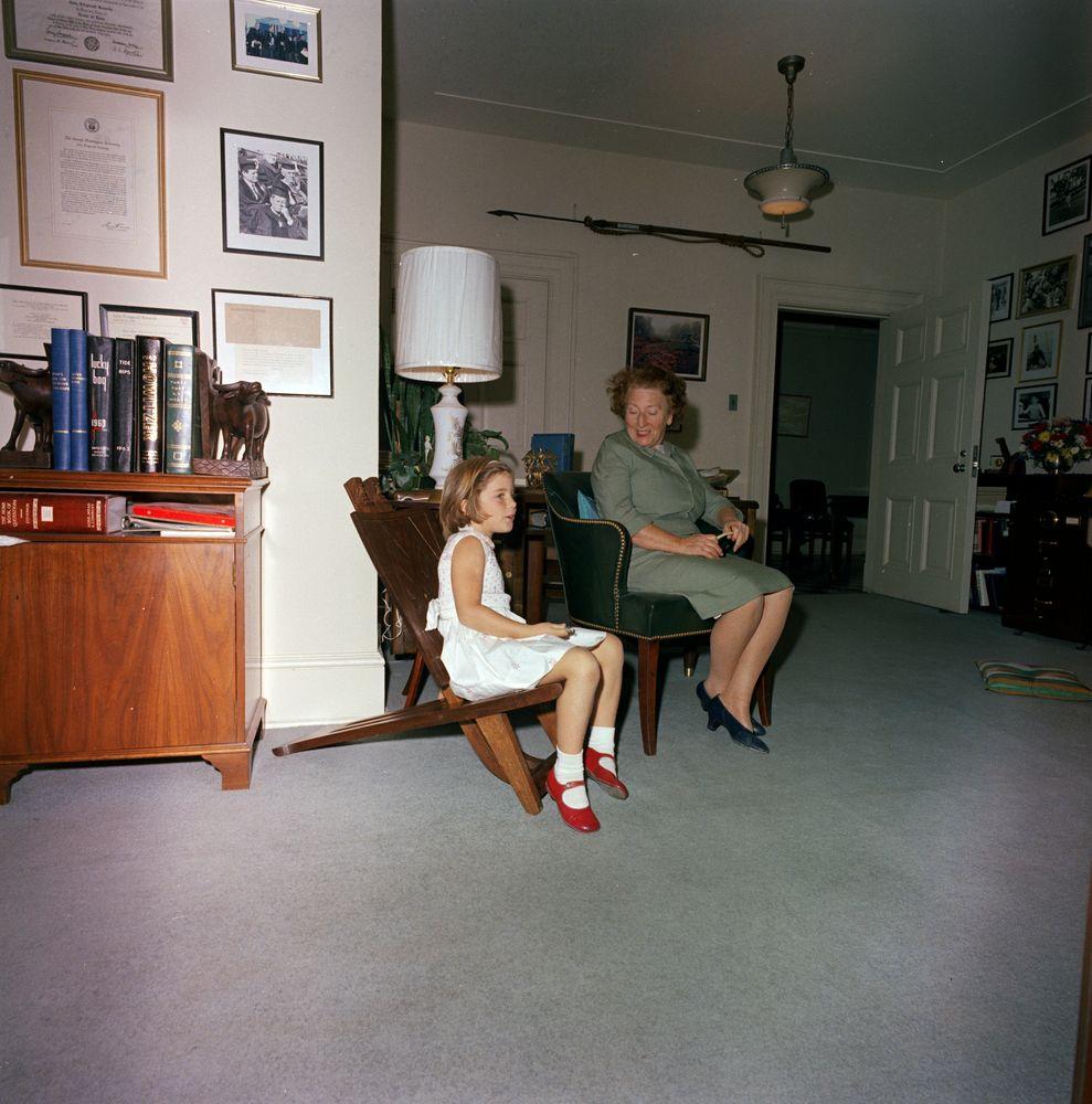 ST-C334-1-63. Caroline Kennedy in White House - John F