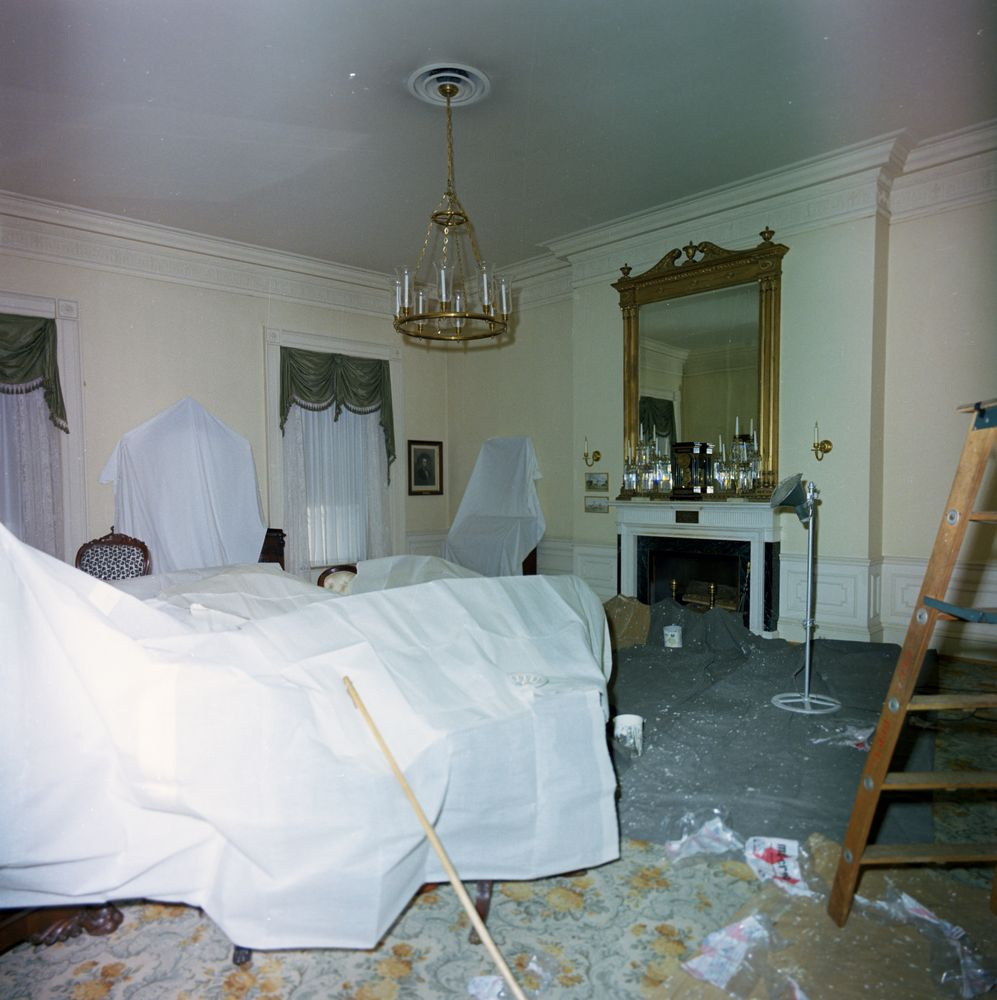 White House Rooms Lincoln Bedroom And Queens 39 Bedroom Undergoing Renovat