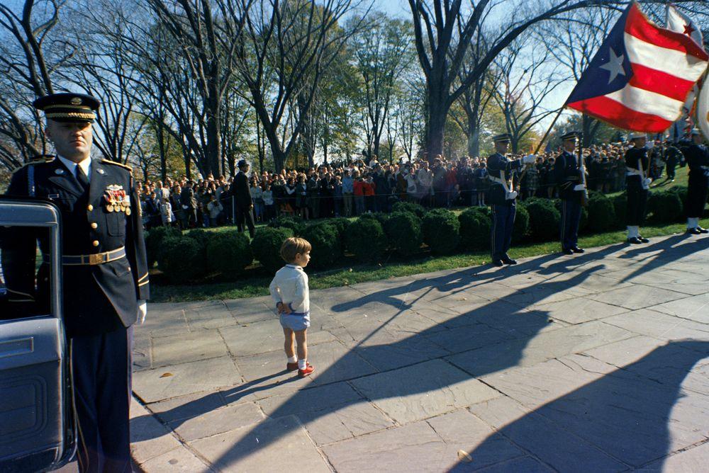 ST-C389-39-63. John F. Kennedy, Jr., at Arlington National Cemetery ...