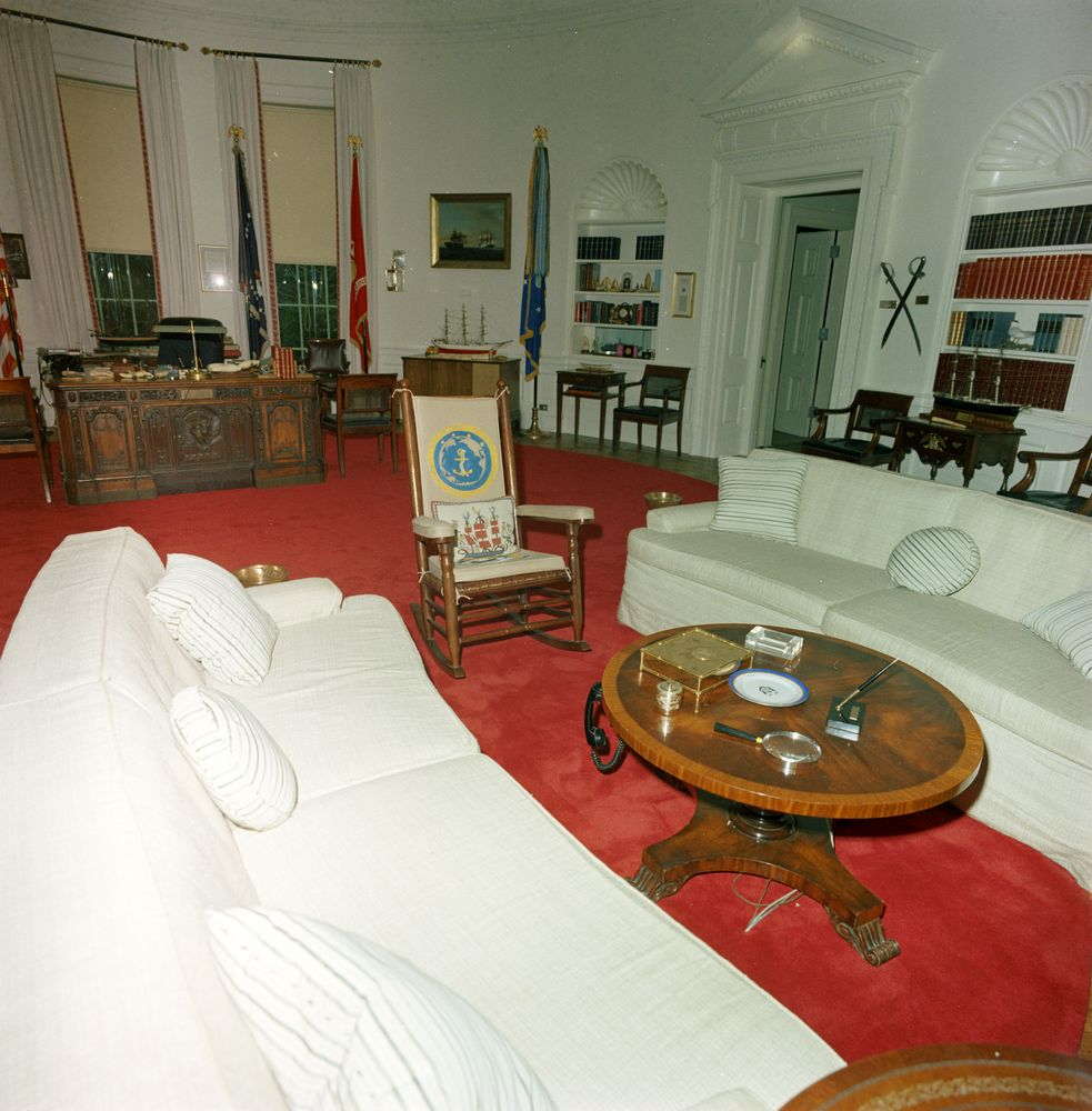 st c416 6 63 redecorated oval office with president john
