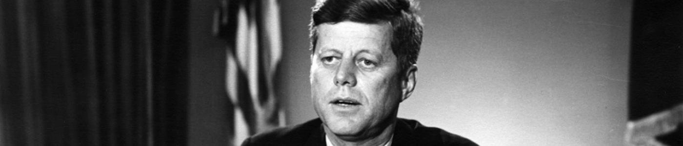 AR8046-C (crop) President Kennedy address on Test Ban Treaty, 26 July 1963