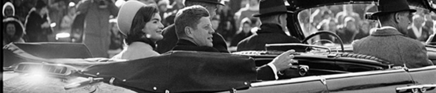 President and Mrs. Kennedy during Inaugural Parade
