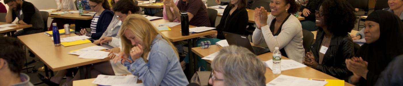 Teachers attend the Non-Ficton Writers' Toolbox conference