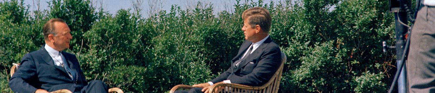 President Kennedy and Walter Cronkite in Hyannis