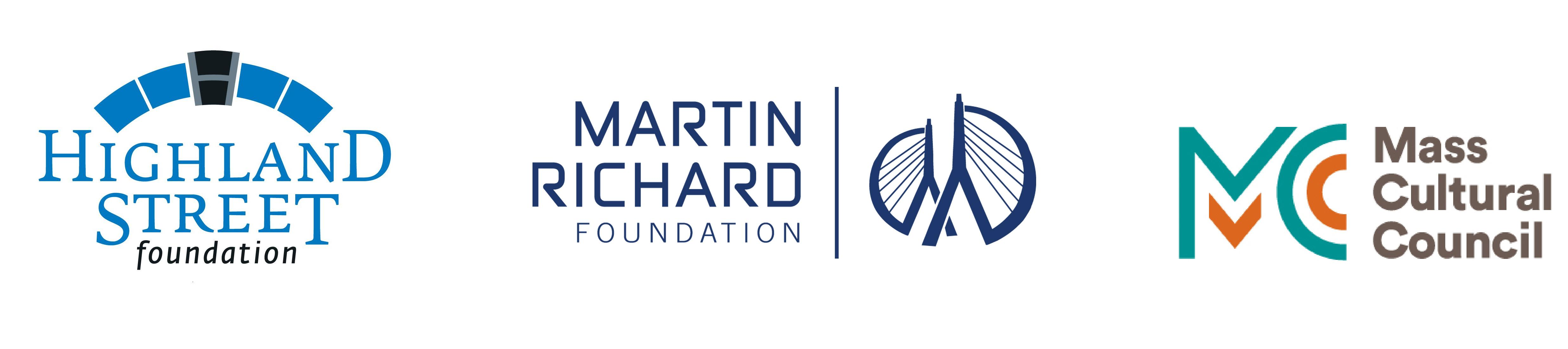 Sponsored by the Highland Street Foundation, the Martin Richard Foundation, and the Mass Cultural Council