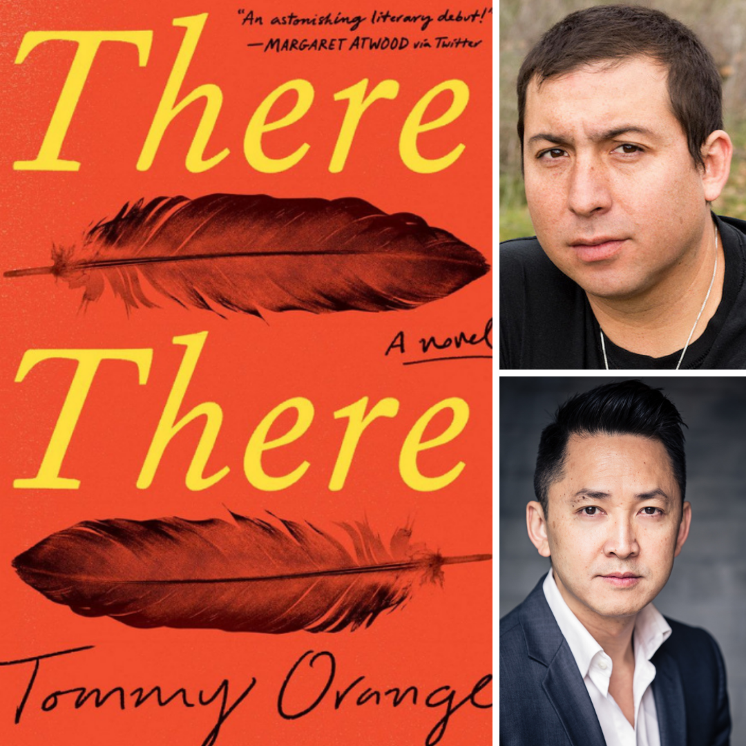 "Images of the book jacket for the PEN/Hemingway Award winning novel, ""There, There""; Tommy Orange, the author of the book; and Viet Thanh Nguyen, the PEN/Hemingway Award Ceremony's key-note speaker."