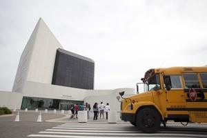 School group comes to the JFK Library