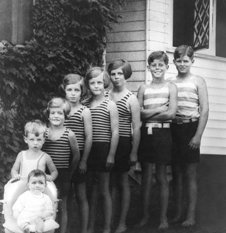 The eight Kennedy children, Hyannis Port, 1928