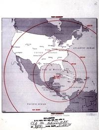 Cuban Missile Crisis Map of Missile Range