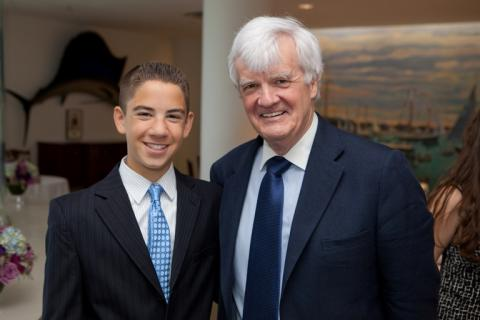 2011 Profile in Courag Essay Contest winner Kevin Kay with Al Hunt, chair of the Profile in Courage Award Committee.