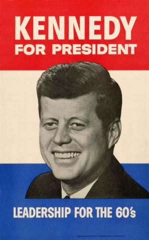 Kennedy for President, Leadership for the 60's Campaign poster (MO 95.77)