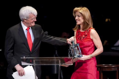 Al Hunt and Caroline Kennedy