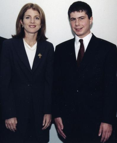 2000 Essay Contest Winner Peter Buttigieg and Caroline Kennedy