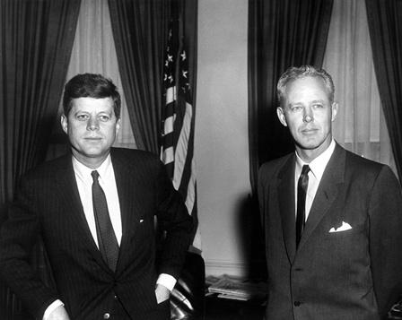 President Kennedy and Charles Bud Wilkinson, 23 March 1961