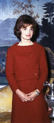 First Lady Jacqueline Kennedy in the Diplomatic Reception Room